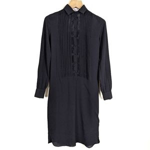 Adam by Adam Lippes Silk Embroidered Shirt Dress